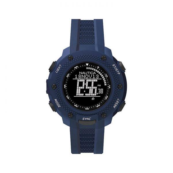 Nautica NMX 15 Black Digital Dial Blue