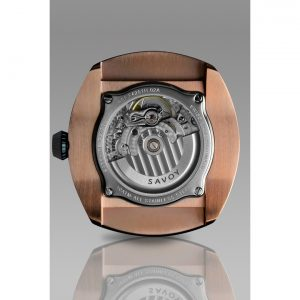Savoy Epic Automatic 43mm Swiss Made Rose Gold IP — Black