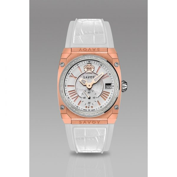 Savoy Icon Light Diamond Rose Gold IP White