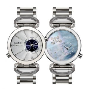 Korloff Reversible Face Diamond Marine Collection Mother of Pearl Dial LM3/4BR