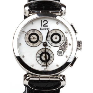 Korloff Diamonds Chronograph White Mother of Pearl VCLAW