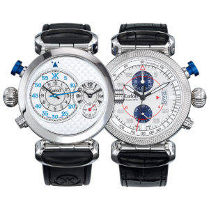 Korloff Reversible Watch Slocum GMT and Chronograph AV8Q/Q