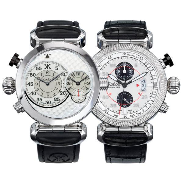 Korloff Reversible Watch Slocum GMT and Chronograph AV9Q/Q